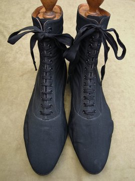 early 20th c. black sports boots