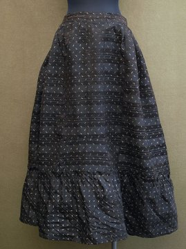 late 19th - early 20th c. printed silk skirt