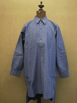 1930-1940's blue cotton shirt dead stock