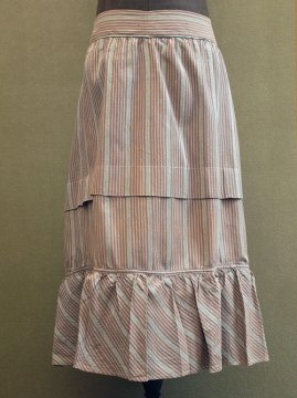 cir.1900's dead stock striped skirt
