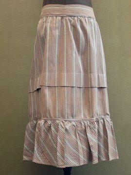 cir.1900's dead stock striped skirt