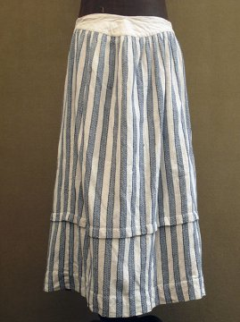 late19th - early 20th c. indigo striped skirt