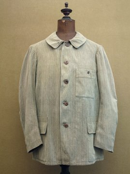 ~1930's striped cotton hunting jacket