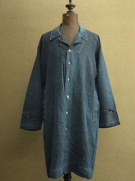 ~1930's indigo linen coat