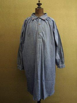 cir.1930's striped cotton smock