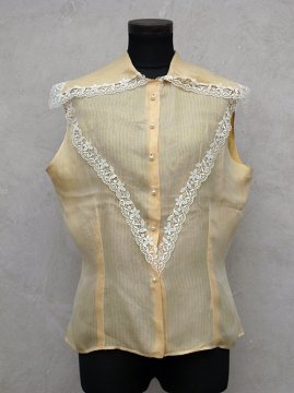 cir.1930-1950's yellow N/SL top