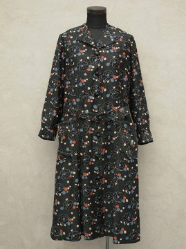 ~1930's printed work coat / dress
