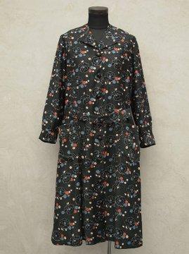 ~1930's printed work coat / dress