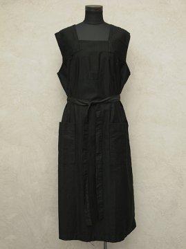 1930-1940's dead stock black work dress / apron