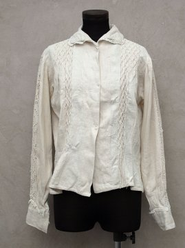 early-mid 20th c. linen blouse