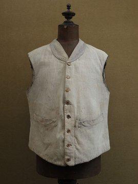 cir. 1930's gray cotton gilet