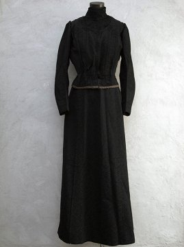 ~1900's black bodice and skirt set-up