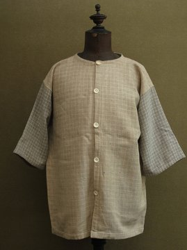 ~1930's checked wool S/SL gilet