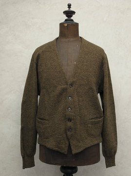 cir.1930-1940's brown knitted cardi
