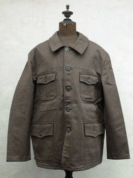 mid 20th c. brown pique hunting jacket dead stock