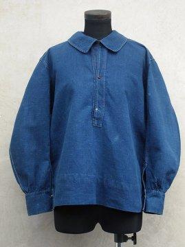 ~1930's indigo linen top