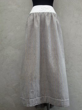 early 20th c. indigo×beige striped skirt