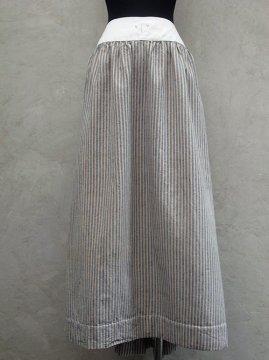 early 20th c. indigo×beige striped skirt