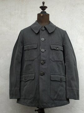 1930-1940's gray cotton twill hunting jacket dead stock