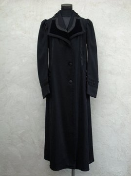 ~early 20th c. black wool womens coat