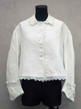 late19th - early 20th c. white cotton blouse / jacket
