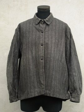 early 20th c. gray striped blouse