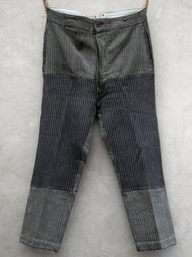 1930-1940's striped pique work trousers