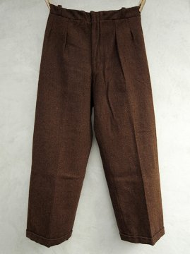 1930-1940's brown wool trousers dead stock