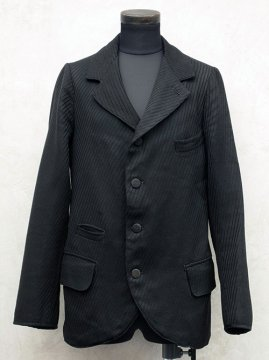 ~early 20th c. striped black wool sack coat