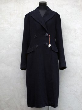 cir.1930-1940's navy wool coat