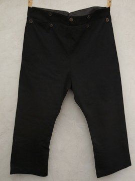 cir.1930's black wool trousers