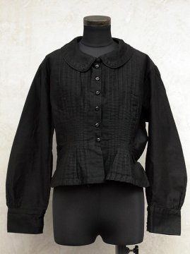 cir.1930's black cotton blouse