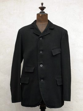 ~early 20th c. black wool sack coat
