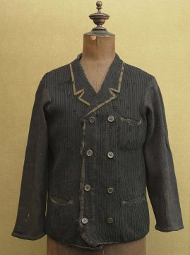 early 20th c. black knitted jacket / cardi