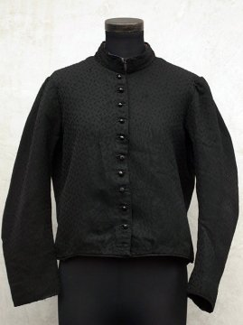 ~1900's black wool bodice