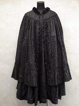 printed black cotton cape