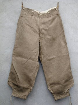 ~1930's linen sarouel work trousers dead stock