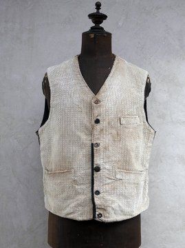 ~1930's patterned cord work gilet