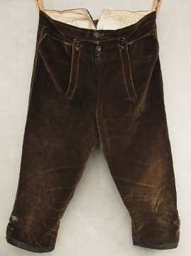 cir.19th c. brown velvet culotte