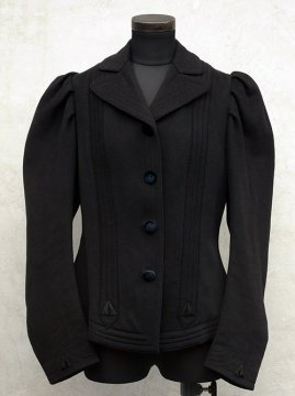 early 20th c. black wool jacket
