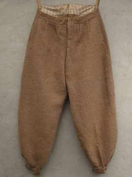 ~1930's pink beige wide wool pants