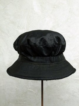 cir. early 20th c. black satin hat