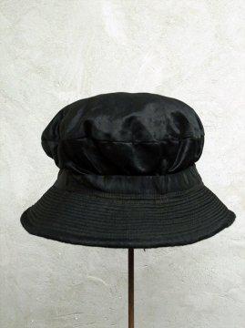 cir. early 20th c. black satin hat
