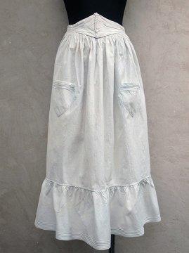 ~1900's pale blue corset apron