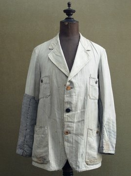 cir.1930's gray striped cotton jacket
