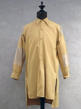1930's patched yellow cotton shirt