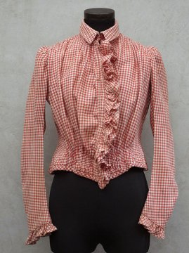 ~1900's Vichy red checked bodice