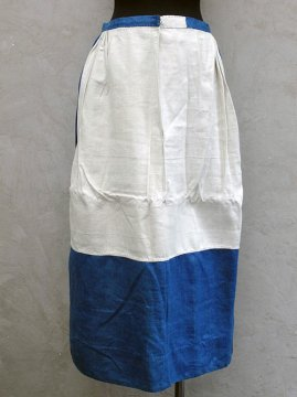 early 20th c.-mid 20th c. eastern Europe indigo linen skirt