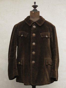 1930-1940's brown cord hunting jacket