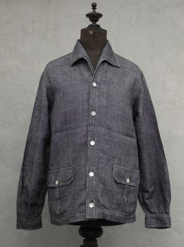 cir.1940's linen chambry jacket